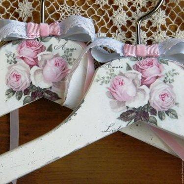 плечики для невесты декупаж