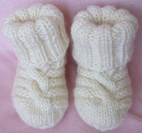 Руководство по вязанию на спицах носочко
