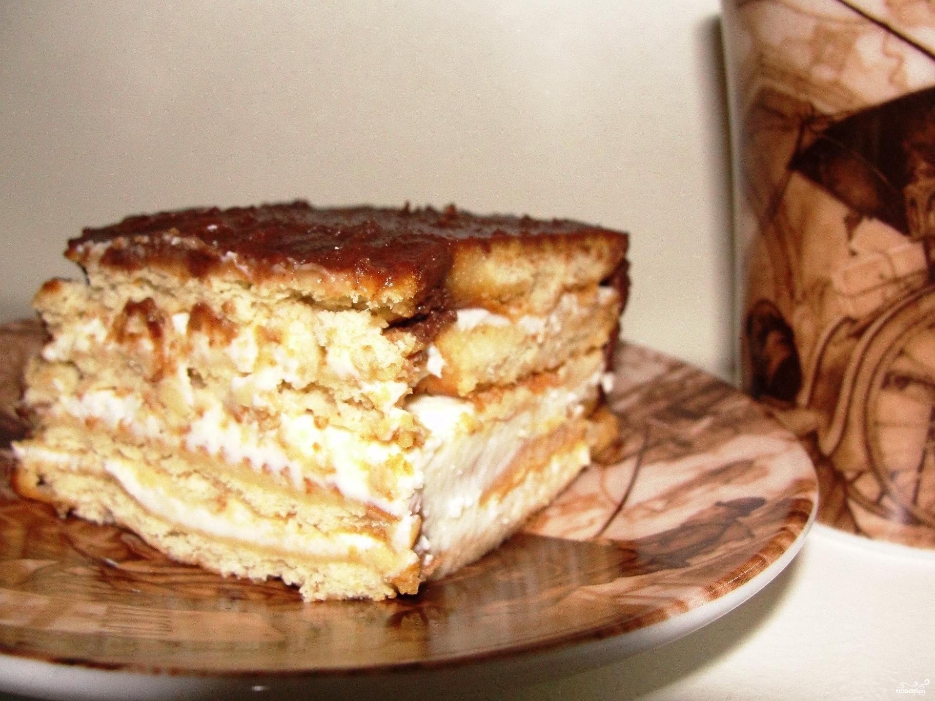 Рецепт без выпечки из печенья