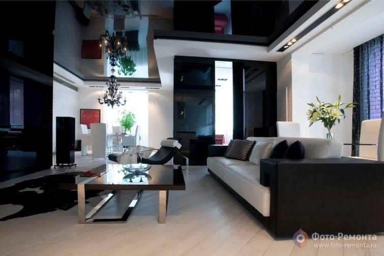 Дизайн квартиры-студии в черно-белых тонах