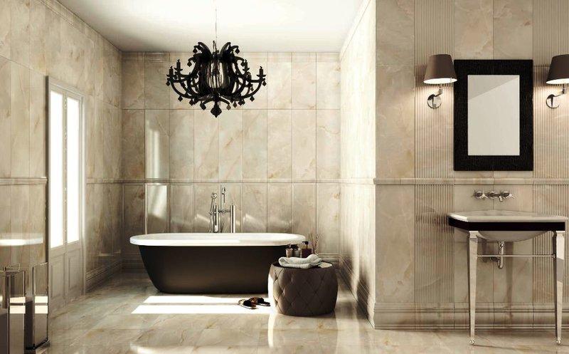Дизайн проект ванной комнаты в стиле ампир