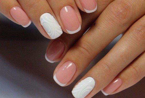 Ногти свадебные фото короткие