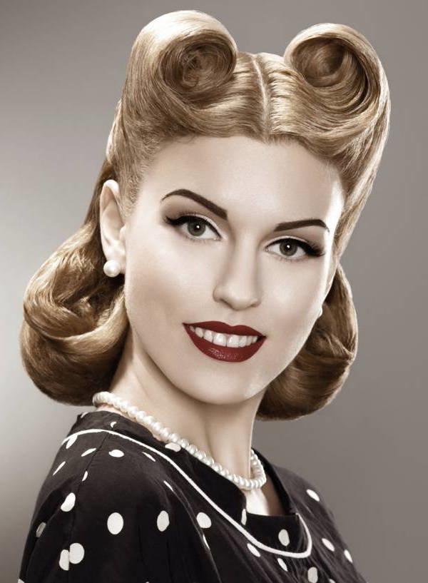 прически 1950 годов фото женские