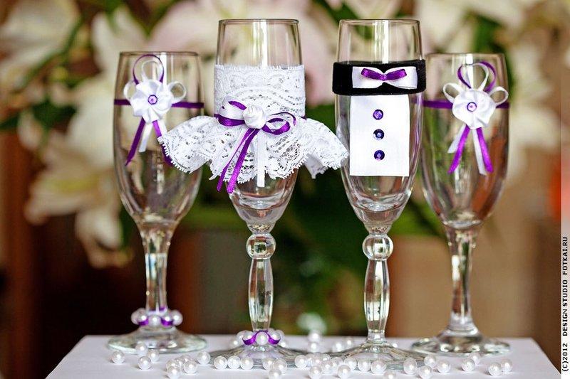Бокалы своими руками для жениха и невесты 53