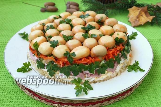 Салат полянка пошаговый рецепт фото