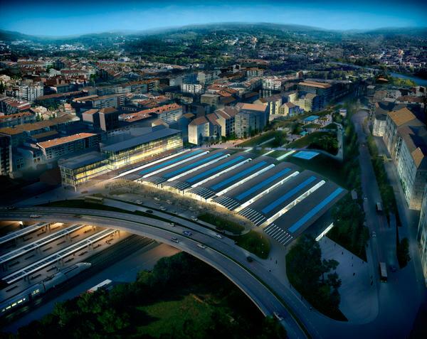 Международная творческая группа в составе бюро Foster + Partners, Cabanelas Castelo Architects и инженеров из G.O.C. победила в конкурсе на проектирование транспортно-пересадочного узла в городе Оренсе (Галисия, Испания), разместив железнодорожную станцию над автострадой.