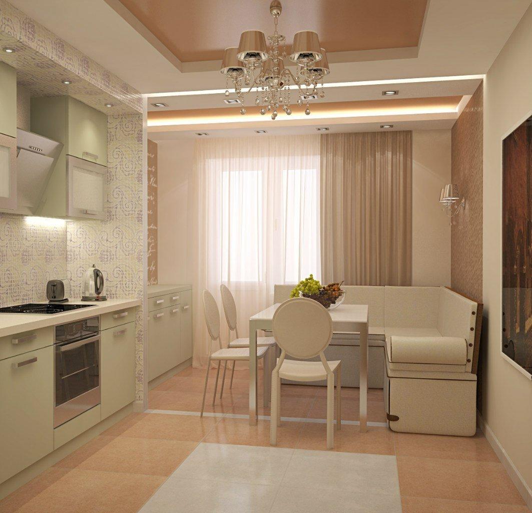 Кухня 14 кв. м. - 70 реальных фото-идей планировки и дизайна.