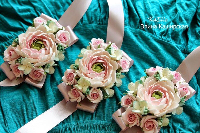 Повязки на руку подружкам невесты