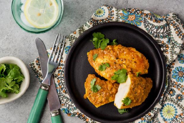 Рецепт куриного филе в соусе карри