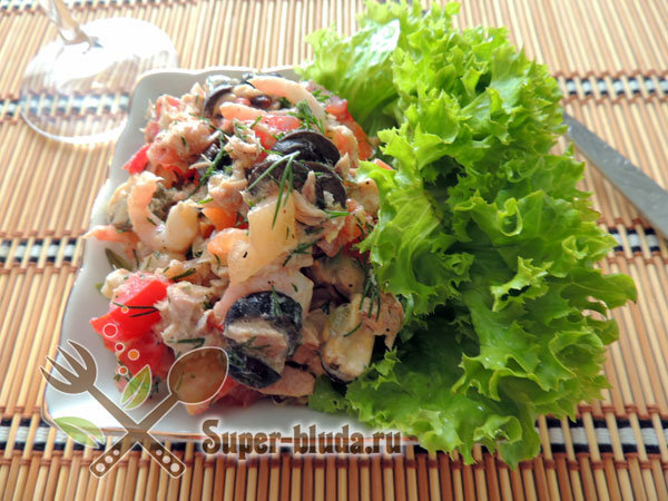 Рецепты салата с креветками с фото