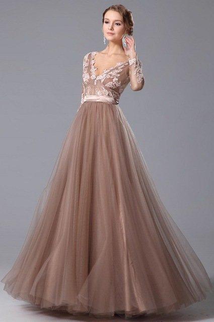 фото вечерние платья с длинным рукавом