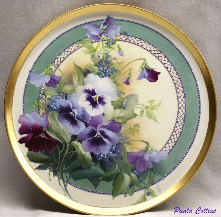 этой картинки тарелочки с цветами модели предложили