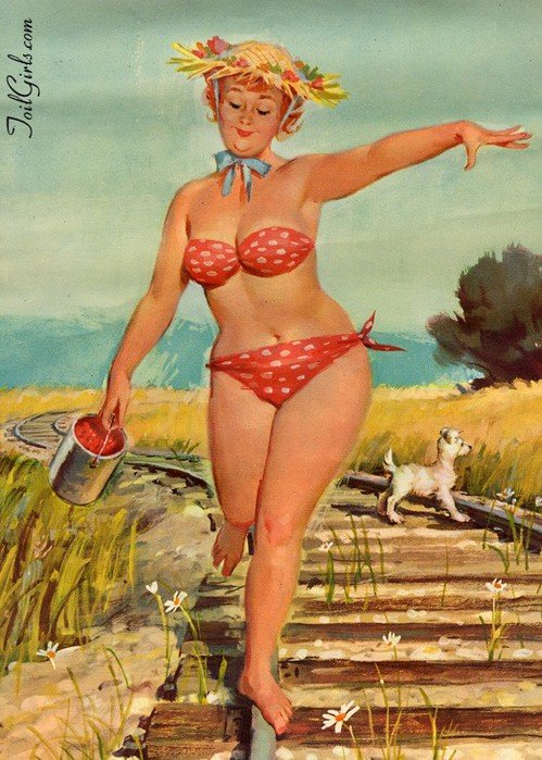 Прикольные рисунки женщин за 45, открытка