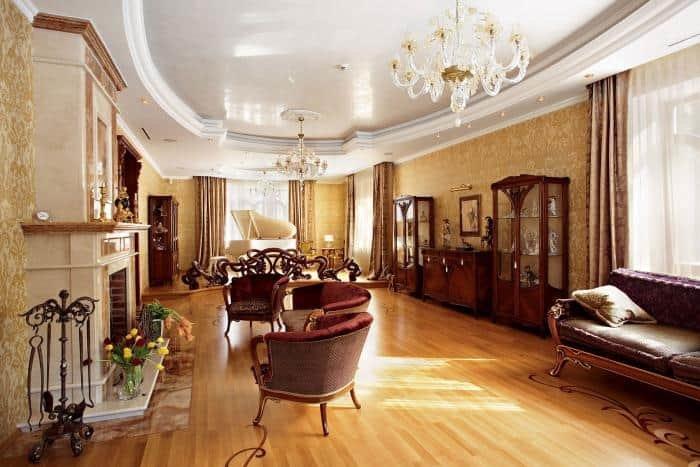 Английский стиль в интерьере  Викторианский стиль в интерьере – роскошь на грани экстаза ... Гостиная в викторианском стиле