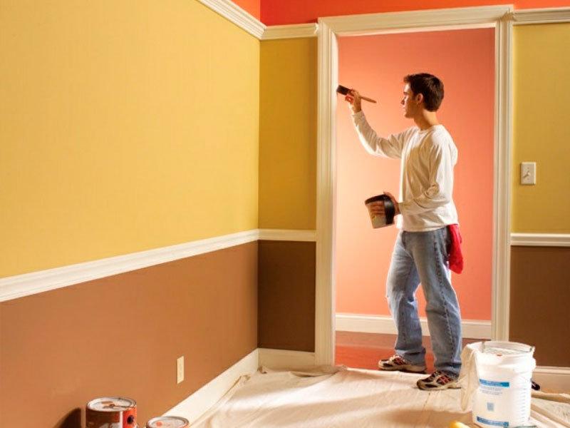 эти операции как пакрасить стены в квартире хорошем качестве