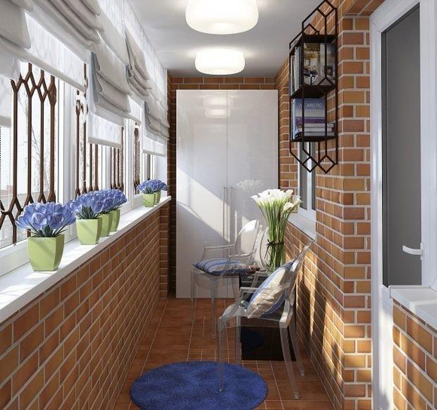Дизайн и освещение лоджии - терраса / балкон / лоджия - ledn.