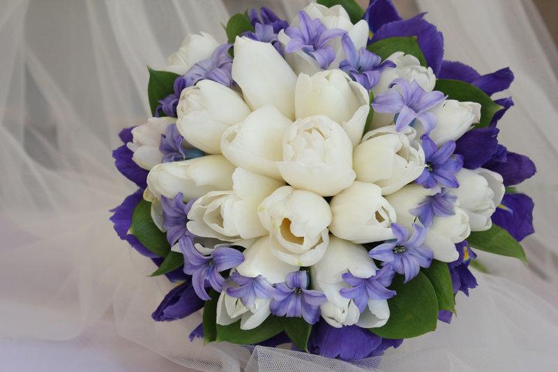 Букет невесты из тюльпанов своими