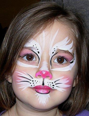 Birbirinden Sevimli Tavşan Yüz Boyama örnekleri Card From User
