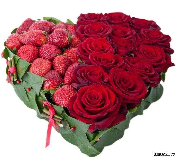 Цветы доставка к дню святого валентина, сердце