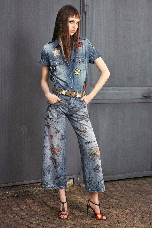 Джинсовые костюмы женские фото