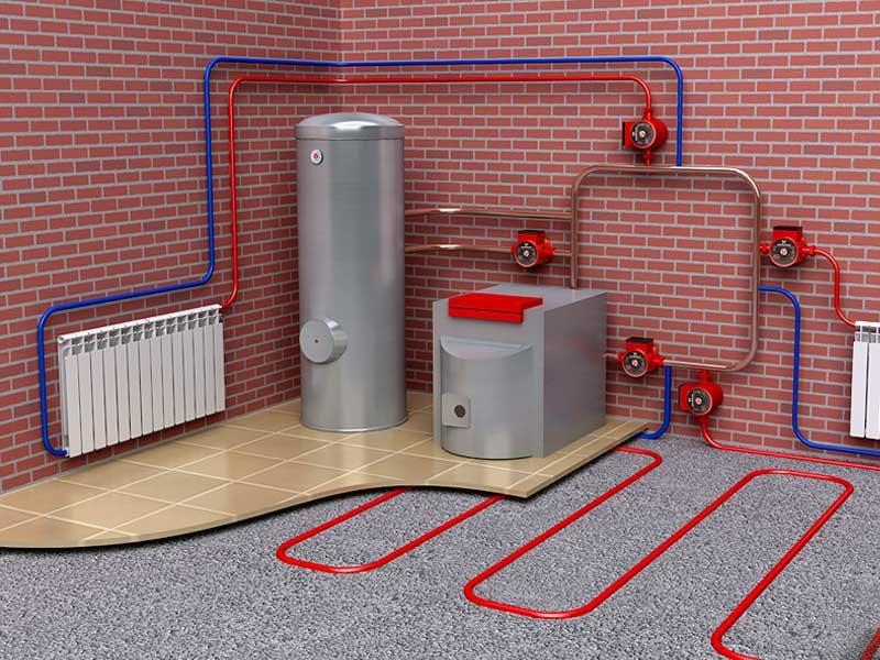 водяное отопление индивидуального дома