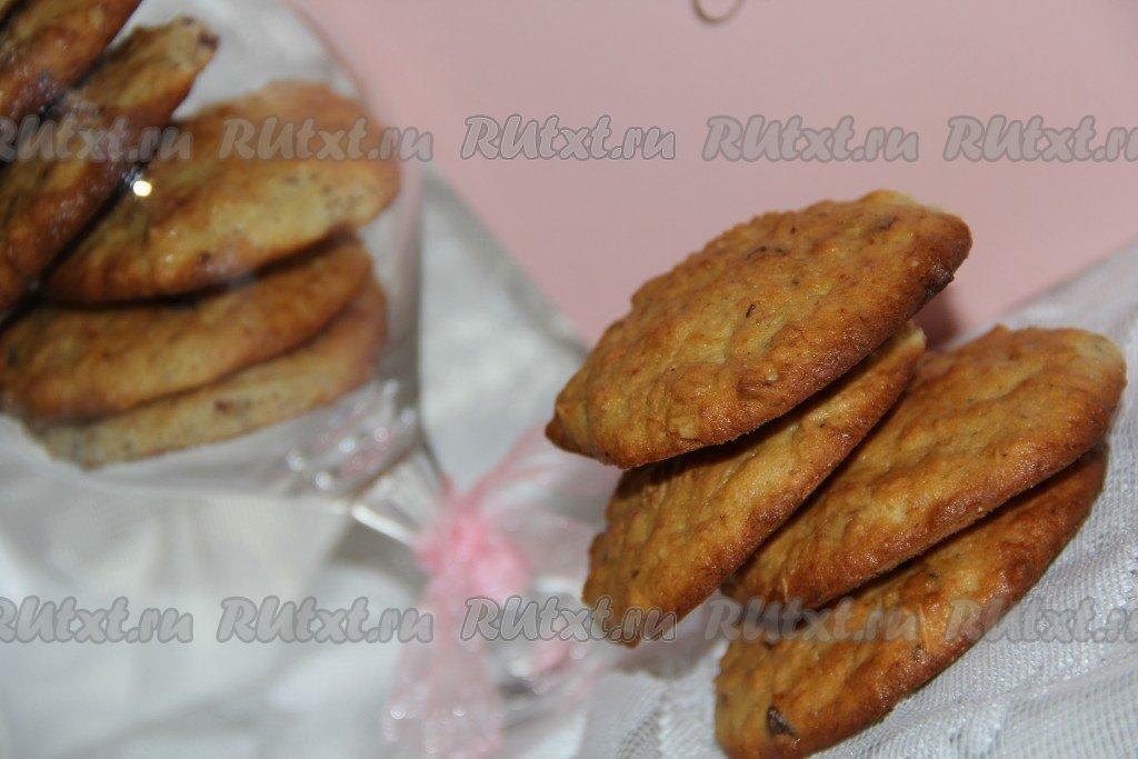 Печенье овсяное с бананом домашнее рецепт