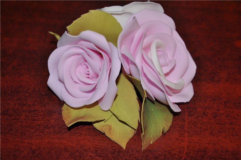 Заколки роза своими руками