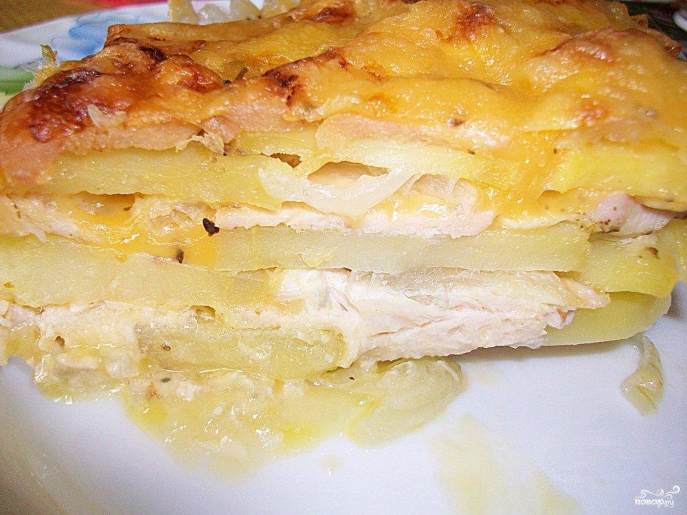 Картофельная запеканка с мясом диетическая