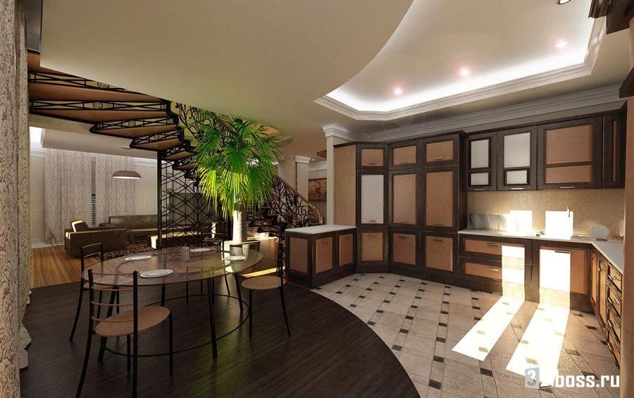 Дизайн кухни-столовой-гостиной: 45 фото дизайна в доме 15