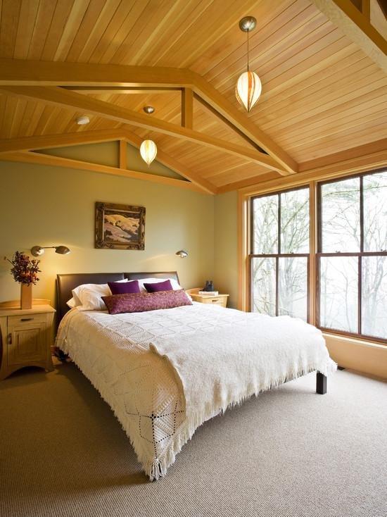 супругой спальня с деревянными потолками фото опознает карту