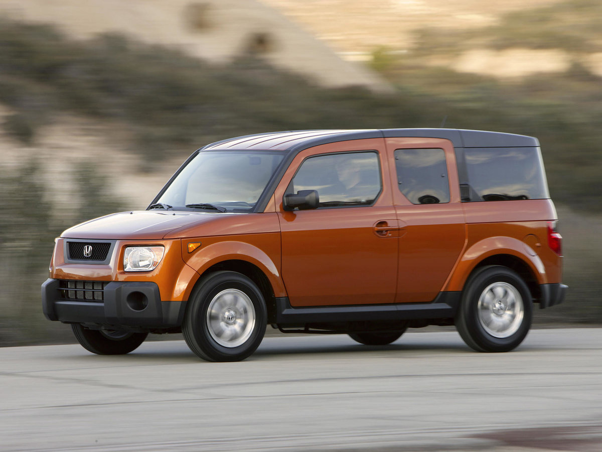 honda element That vehicle is the element, the boxy sport-ute you see here according to honda, the element's element is the 22-year-old single male who is hip, social, well-traveled, and loves extreme sports.