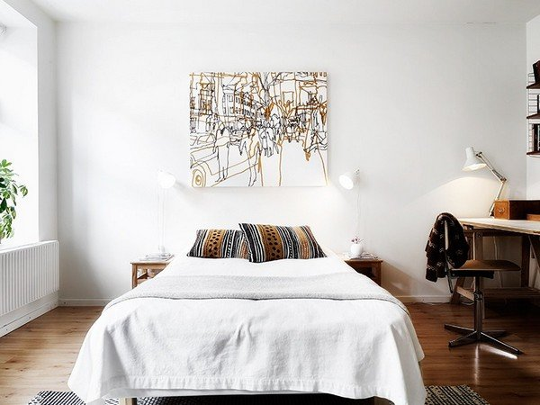 Аксессуары для скандинавской спальни