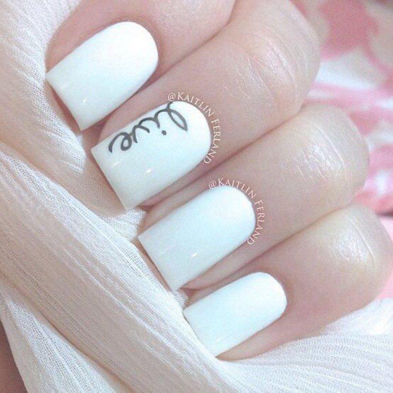 Дизайн ногтей надписи фото