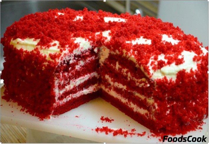 Торт красный бархат оригинальный пошаговый