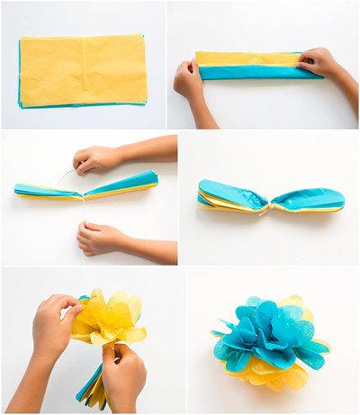 Делаем цветы с детьми своими руками
