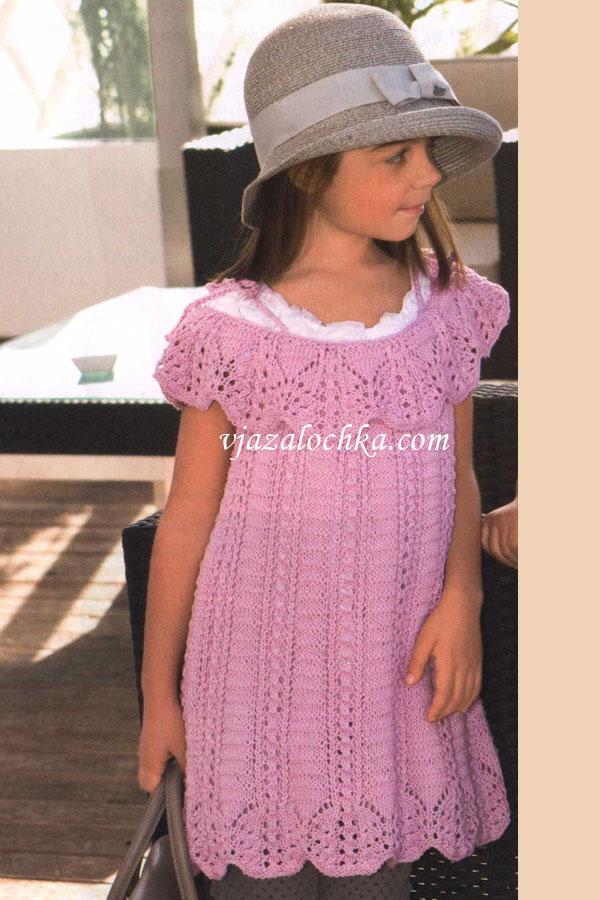 вязание спицами вязание для детей платье для девочки платье с
