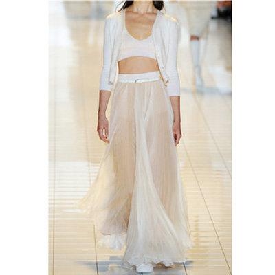 Прозрачная белая юбка фото