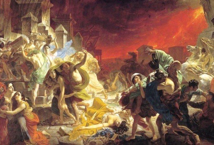 К. Брюллов. Последний день Помпеи, 1830-1833 гг. Фрагмент