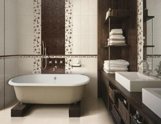 Плитка в ванную комнату - большой обзор фото самых интересных идей. Наши фото галереи помогут вам определиться с дизайном ваших ванных и санузлов