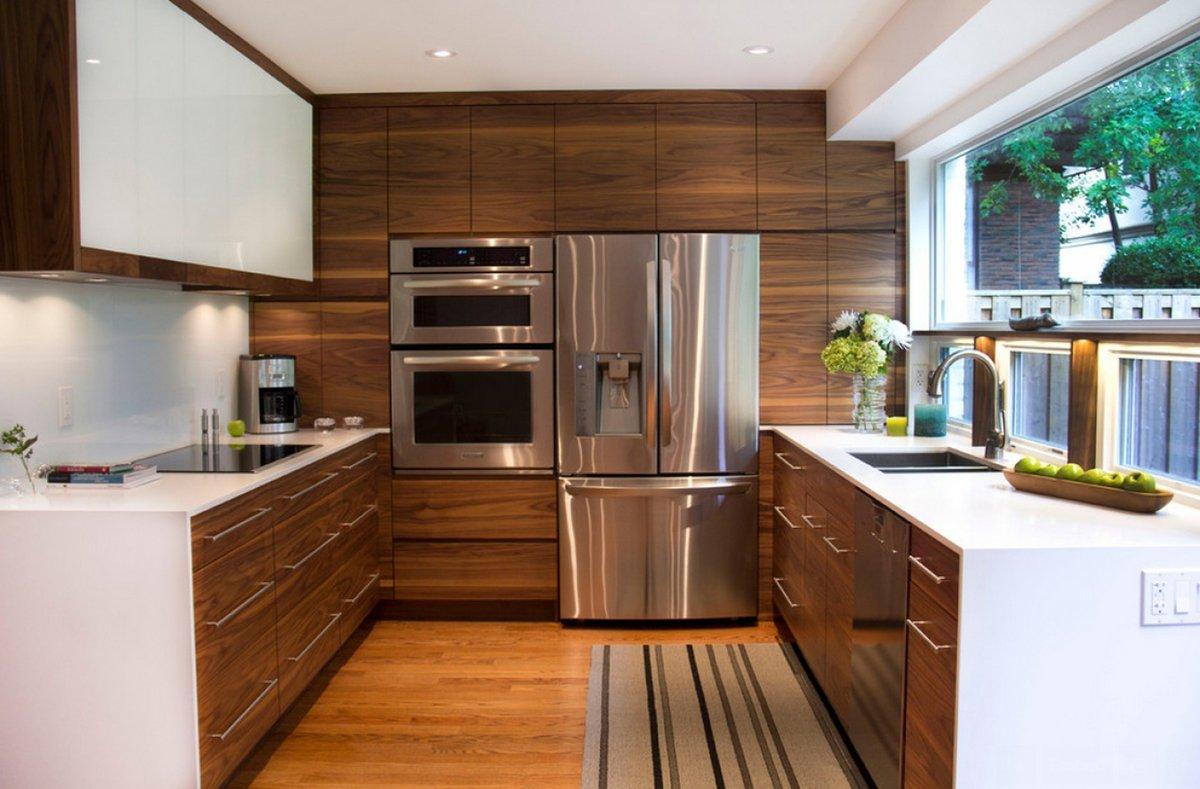 деревянные кухни в стиле модерн