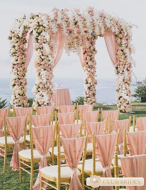 свадьба в цвете золотом фото