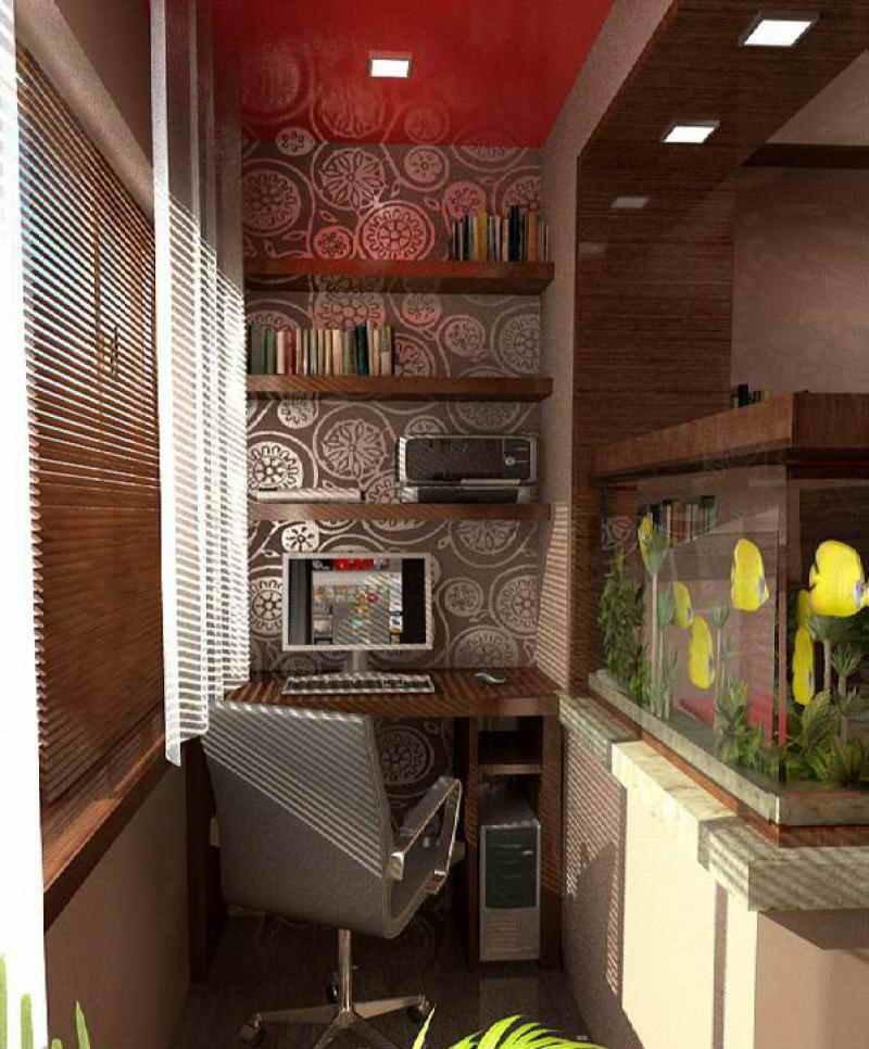 """Дизайн балконов и лоджий - еще одна комната."""" - карточка пол."""