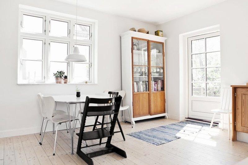 Скандинавский стиль: деревянные полы, компоненты мебели