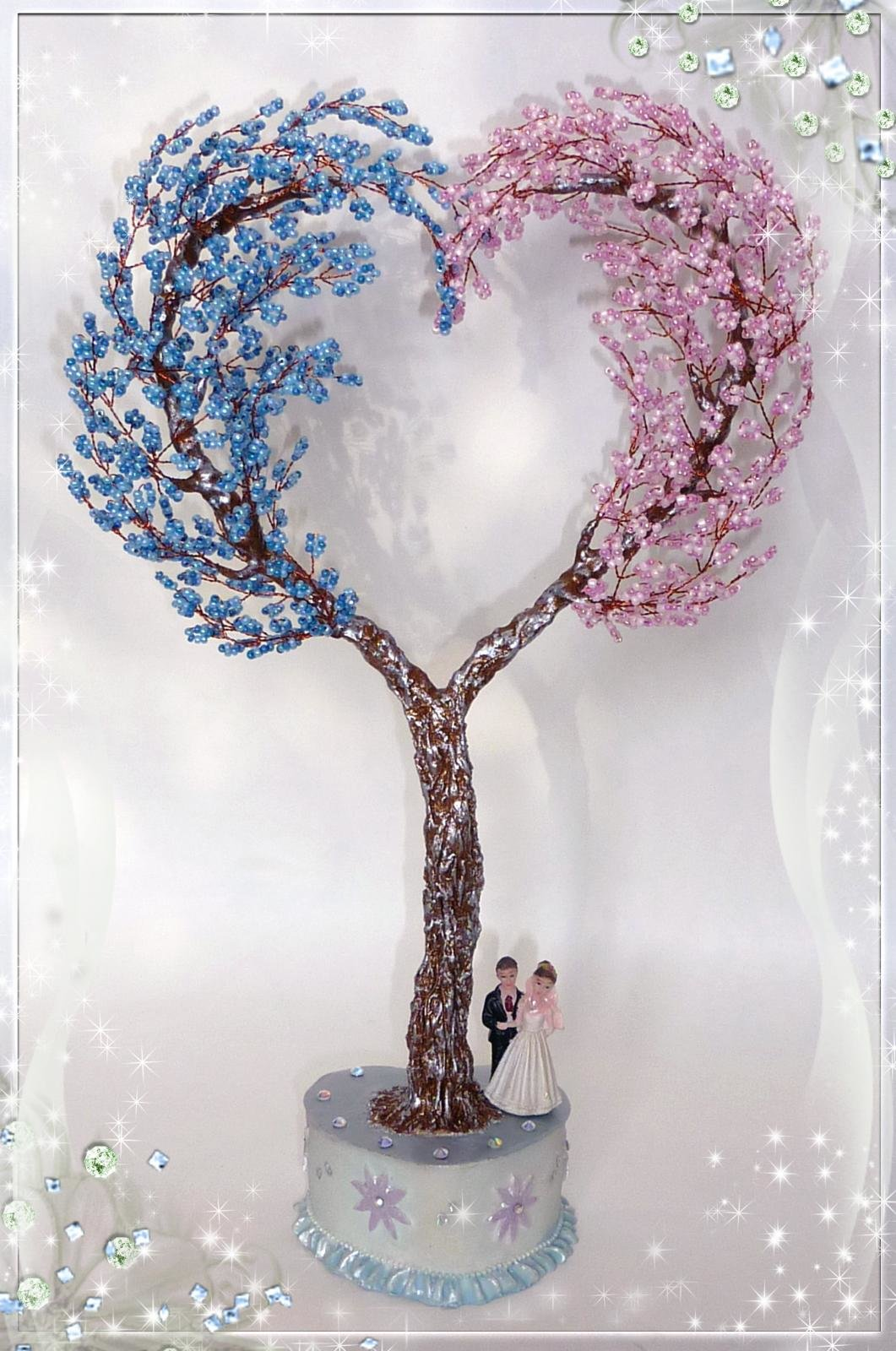 Сердце дерево из бисера картинки