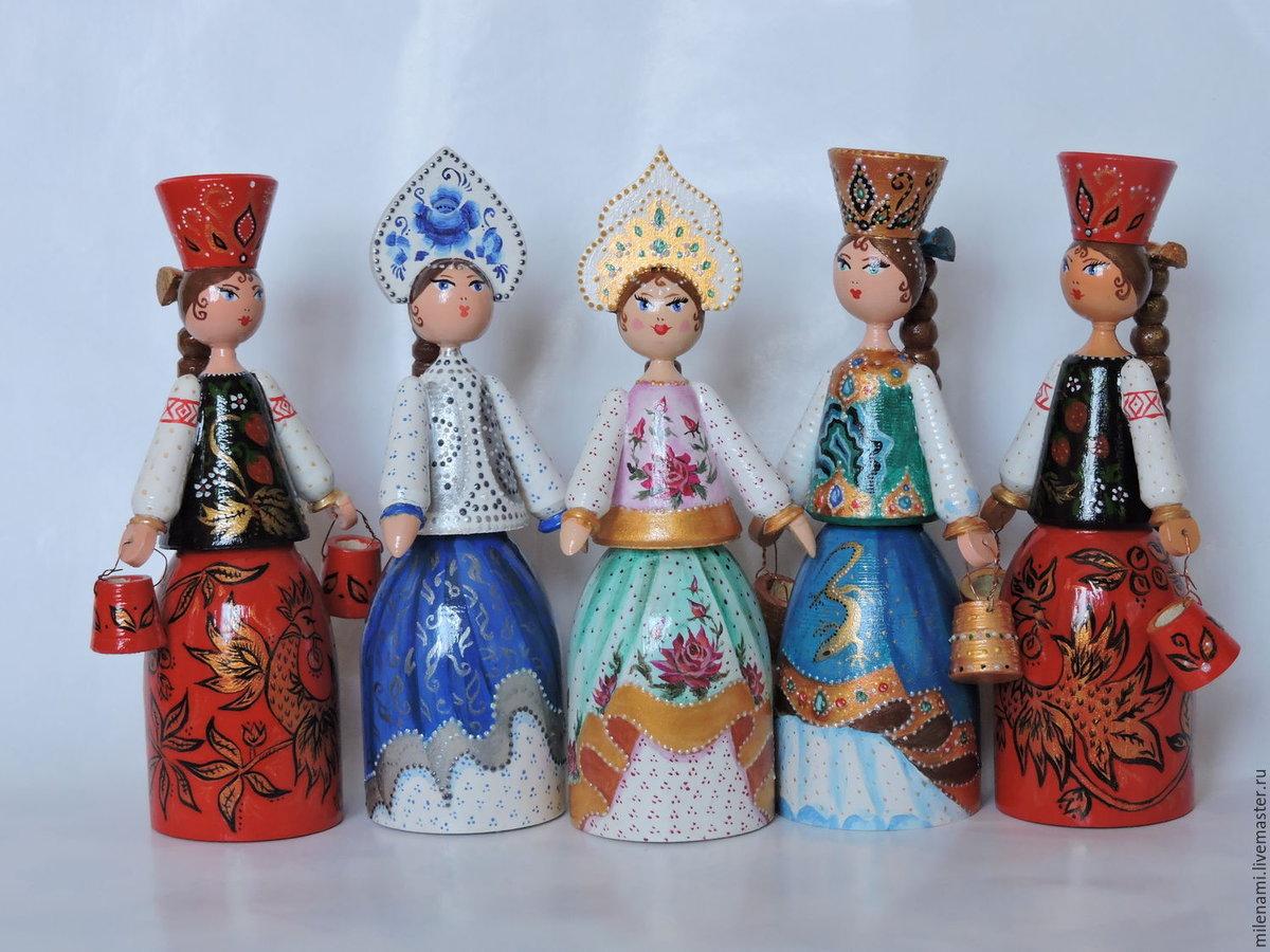 Расписные деревянные куклы картинки