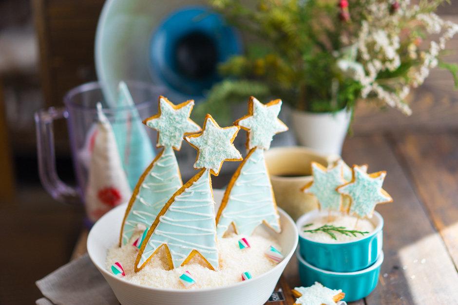 Имбирные пряники — новогодние печенья с глазурью