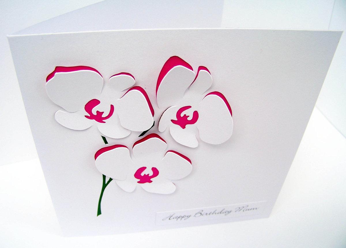 Как сделать цветы из бумаги на открытку, будет
