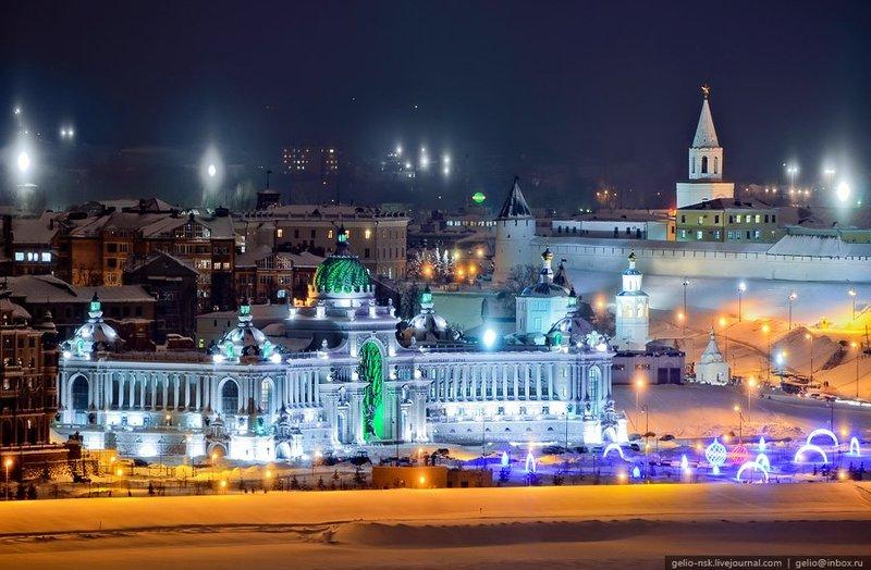 Новогодние огни Казани