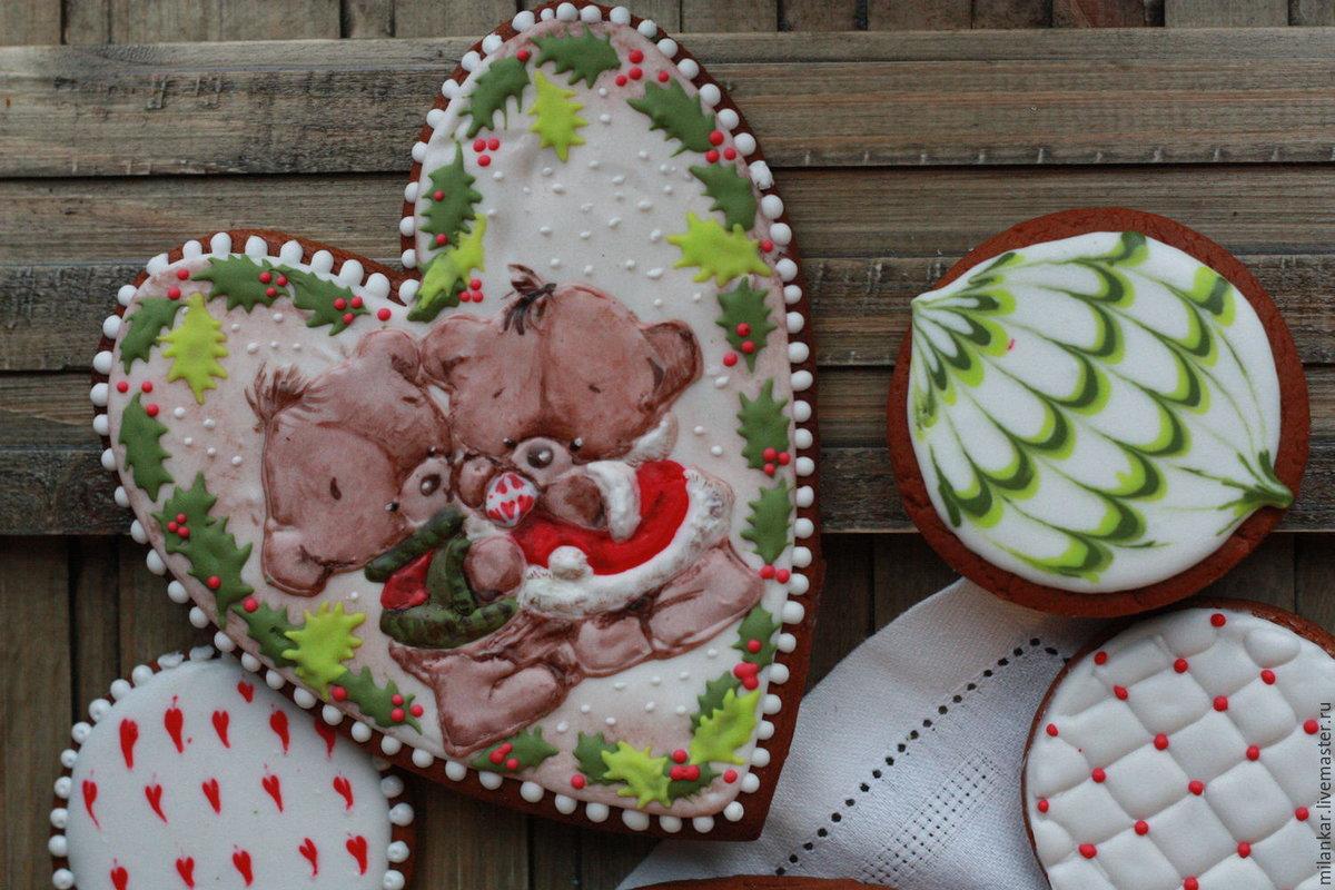 Пряники открытка, днем рождения зимняя