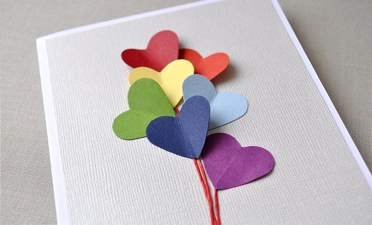 Открытки к дню святого валентина своими руками для детей, мастер